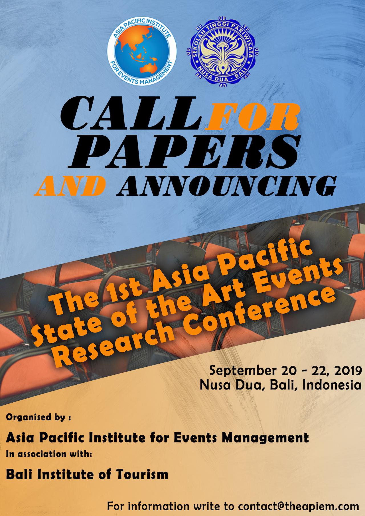 2019 APIEM Conferences
