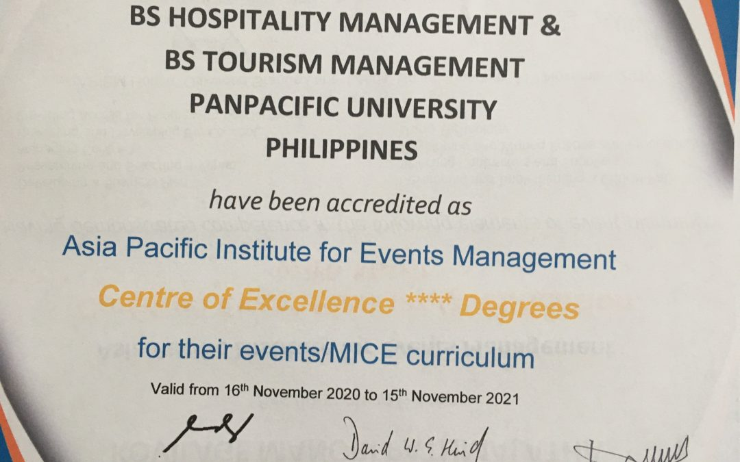Panpacific University, Philippines Becomes an APIEM Centre of Excellence ****